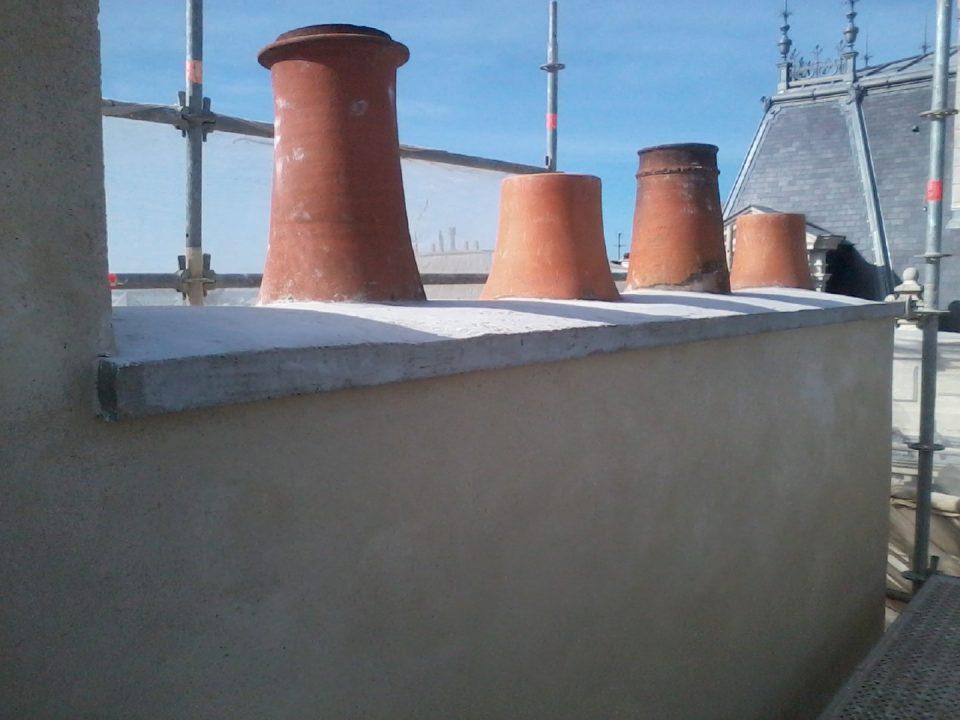 Réfection d'une souche de cheminée
