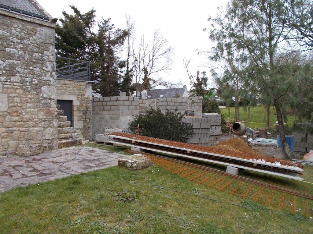 Extension en pierre